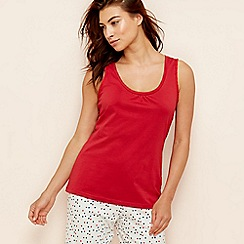 Lounge & Sleep - Red cotton vest