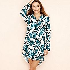 Lounge & Sleep - White tropical floral print nightshirt