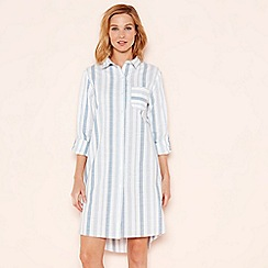 Lounge & Sleep - Pale blue striped nightshirt