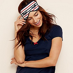 Lounge & Sleep - Red eyelash stripe print sleep mask