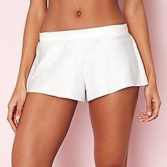 The Collection - Ivory satin pyjama shorts
