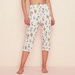 Lounge & Sleep - Light pink floral print jersey 'Gardens' pyjama bottoms