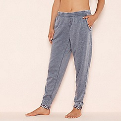 Lounge & Sleep - Navy marl loungewear bottoms