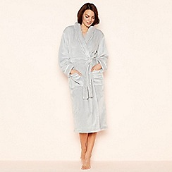 Lounge & Sleep - Pale grey fleece dressing gown