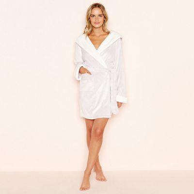 5af7e9ea7b6 Lounge   Sleep - Lilac fleece hooded dressing gown