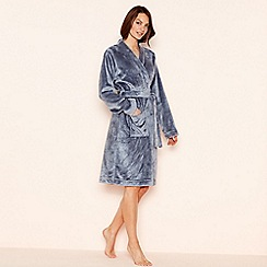 Lounge & Sleep - Blue fleece dressing gown