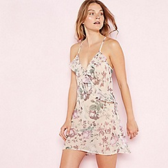 The Collection - Cream floral print chiffon 'Elegant' chemise