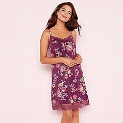 Gorgeous DD+ - Purple floral print 'Oasis' chemise