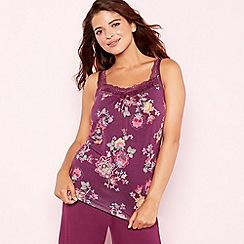Gorgeous DD+ - Purple floral print 'Oasis' camisole vest