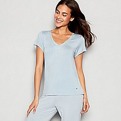 J by Jasper Conran - Light blue 'Archive' short sleeve pyjama top