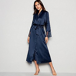 J by Jasper Conran - Navy satin dressing gown