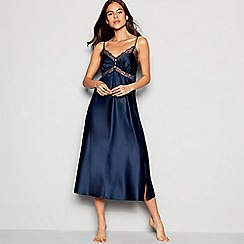 J by Jasper Conran - Navy satin lace 'Archive' nightdress
