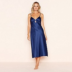 The Collection - Navy satin nightdress