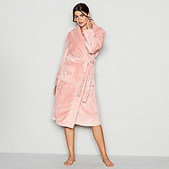 J by Jasper Conran - Light pink waffle trim dressing gown
