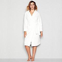 J by Jasper Conran - White waffle trim dressing gown