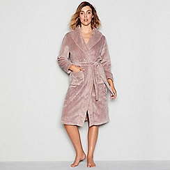 J by Jasper Conran - Taupe waffle trim dressing gown