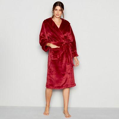 J by Jasper Conran Red hooded dressing gown | Debenhams