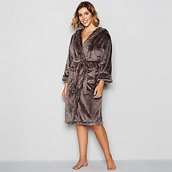 J by Jasper Conran - Dark grey hooded dressing gown
