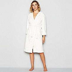J by Jasper Conran - Ivory hooded dressing gown