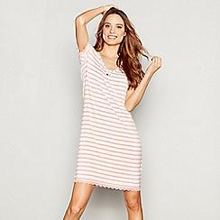 J by Jasper Conran - Pink stripe print jersey 'Nomad' nightdress