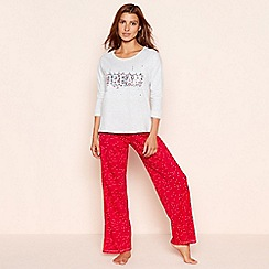 Lounge & Sleep - Multicoloured dream cotton jersey pyjama set