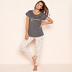 Lounge & Sleep - Petite multicoloured sparkle cotton jersey pyjama set