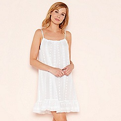 Lounge & Sleep - White embroidered cotton chemise