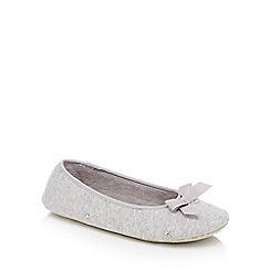 Lounge & Sleep - Grey marl star stud mule slippers