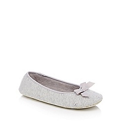 Lounge & Sleep - Grey marl star stud mule slippers