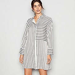 J by Jasper Conran - Monochrome striped satin nightshirt