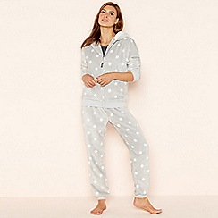 Lounge & Sleep - Grey 3 piece 'panda' pyjama set
