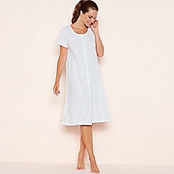 Lounge & Sleep - Cream spot print cotton nightdress