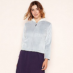 Lounge & Sleep - Grey zip through bed jacket
