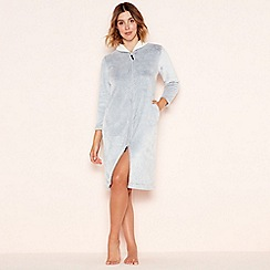 Lounge & Sleep - Grey zip through robe