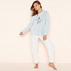 Lounge & Sleep - Blue 'Star' sequin embellished pyjama set
