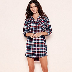 Lounge & Sleep - Red check print shirt nightdress