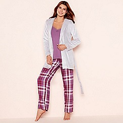 Lounge & Sleep - Purple check print 'Still Life' pyjama set