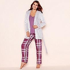 Lounge & Sleep - Purple check print 'Still Life' pyjama set