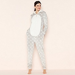 Lounge & Sleep - Petite Grey Penguin Onesie