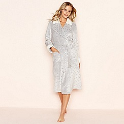 Lounge & Sleep - Grey foil star print dressing gown