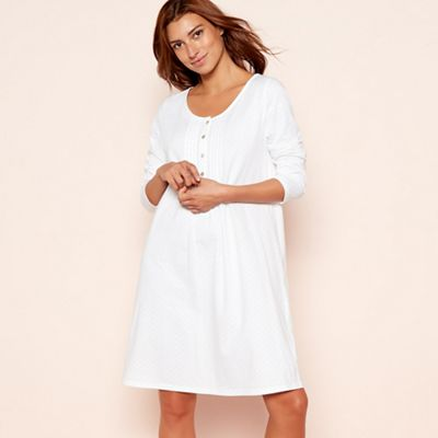 Lounge   Sleep Cream spot print pure cotton long sleeve nightdress ... 7fc79f2d8