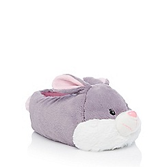 Lounge & Sleep - Light grey rabbit slippers