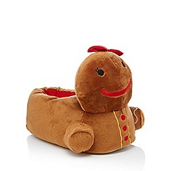 Lounge & Sleep - Light brown 3D gingerbread slippers