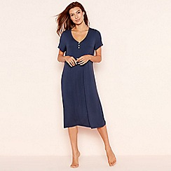 Lounge & Sleep - Navy soft touch short sleeve nightdress