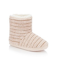 Lounge & Sleep - Pink glitter chenille slipper boots