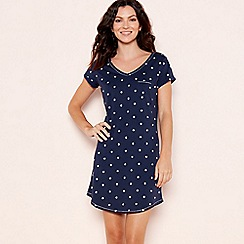 Lounge & Sleep - Navy star print nightdress
