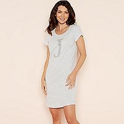 Lounge & Sleep - Light grey 'J' glitter monogram T-shirt nightdress