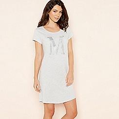 Lounge & Sleep - Light grey 'M' glitter monogram T-shirt nightdress