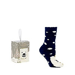 Lounge & Sleep - Navy Polar Bear boxed socks