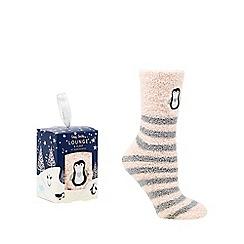 Lounge & Sleep - Pink penguin socks